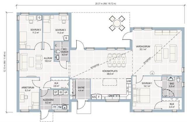 plan maison ossature bois plain pied