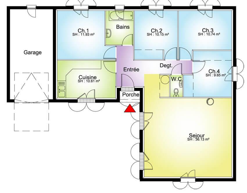 Plan Grande Maison Avec 4 Chambres Plans Maisons