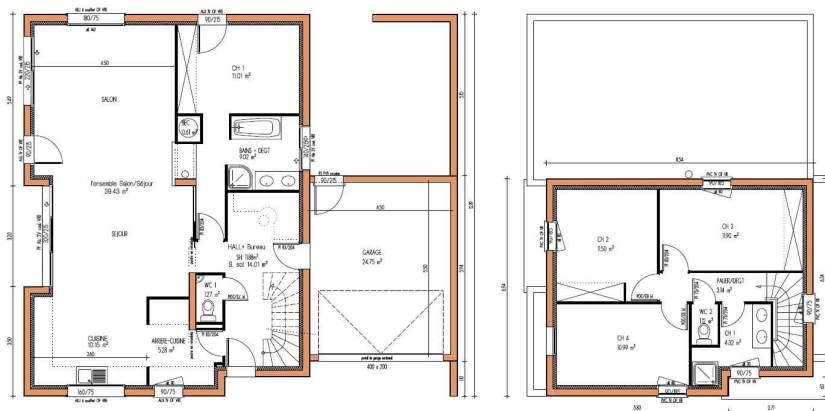 Plan de maison en bois contemporaine