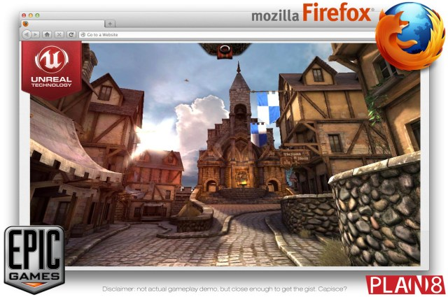 Mock up Epic Games Mozilla Unreal 3 Engine