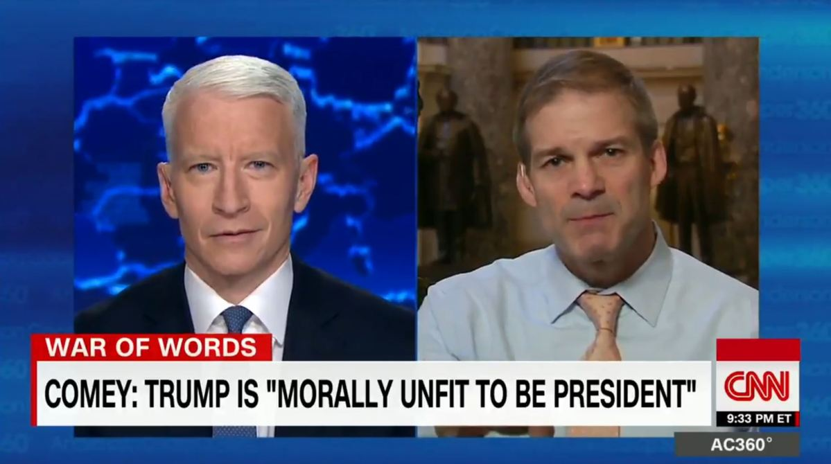 U.S. Rep Jim Jordan (R-OH), chairman of the ultra right wing Freedom Caucus, says President Donald Trump never lies