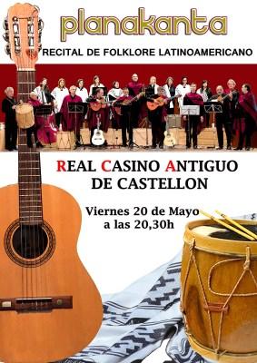 Cartel actuación Planakanta Casino Antiguo de Castellón