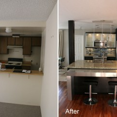 Kitchen Remodels Before And After How To Refinish Sink Planning Design Remodeling In A