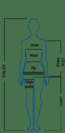 Body measurement table