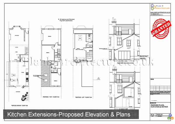 Planning Drawings for Kitchen Extensions Detail