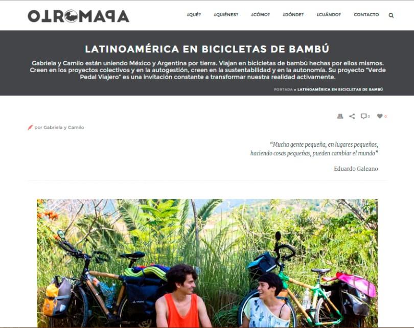 plan b viajero , latinoamerica en bicis de bambu , otro mapa