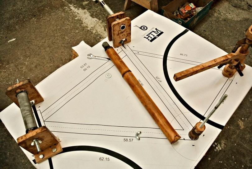 plan b viajero, taller de bicis de bambu, HTM Bamboocycles