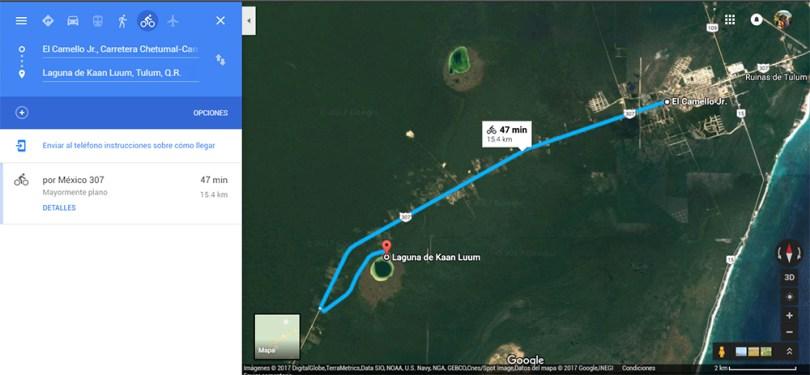 plan b viajero, laguna kaan luum como llegar mapa