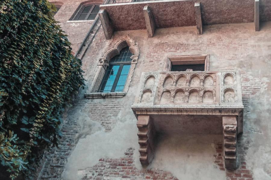 Der Balkon von Julia in Verona.