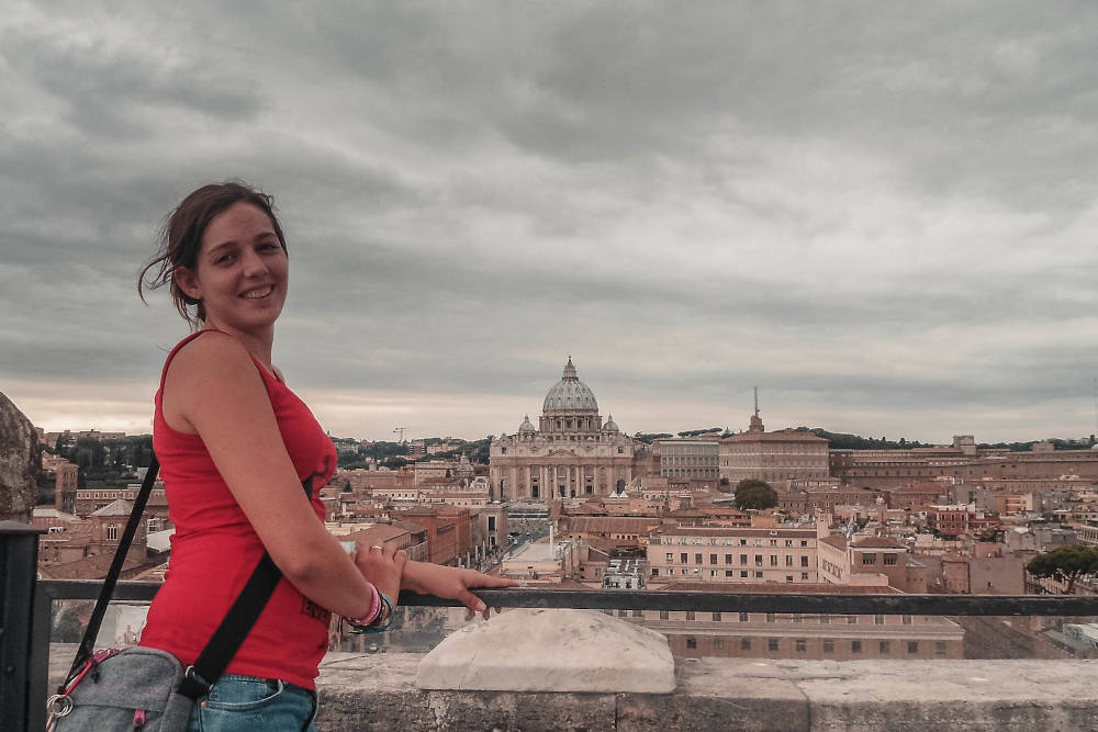 Ich mit Blick auf den Vatikan