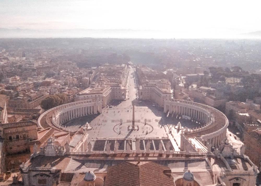 Der unglaubliche Ausblick von der Basilika Sankt Peter, Vatikan