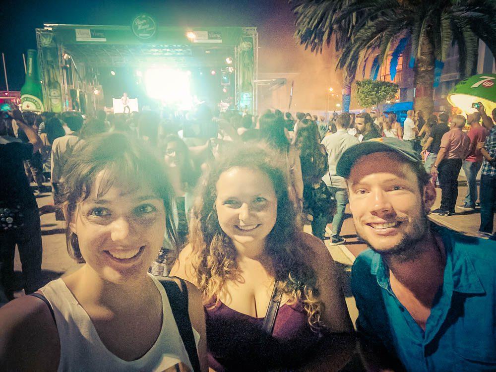 Wir auf einem Festival in Gran Canaria