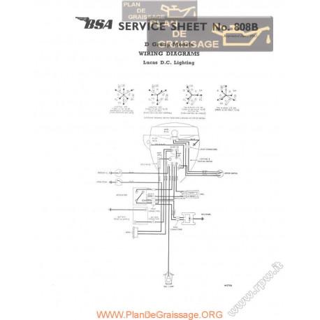 Bsa Service Sheet N 808b P1961 D Group Wiring Diagrams