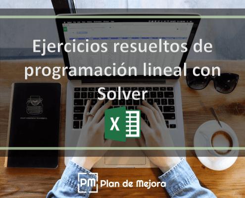 Ejercicios resueltos de programación lineal con Solver