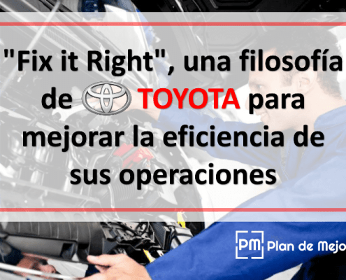 """Fix it Right"", una filosofía de Toyota"