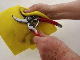 limpiando herramientas