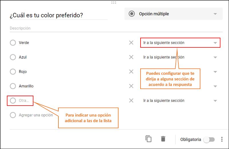 Cómo crear una encuesta en Google opción múltiple