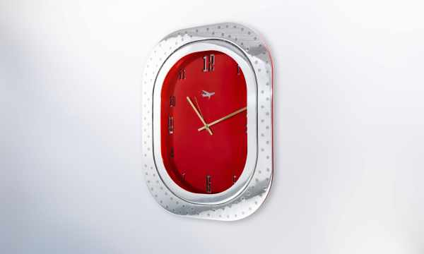 Airbus A320 Window Clock Red