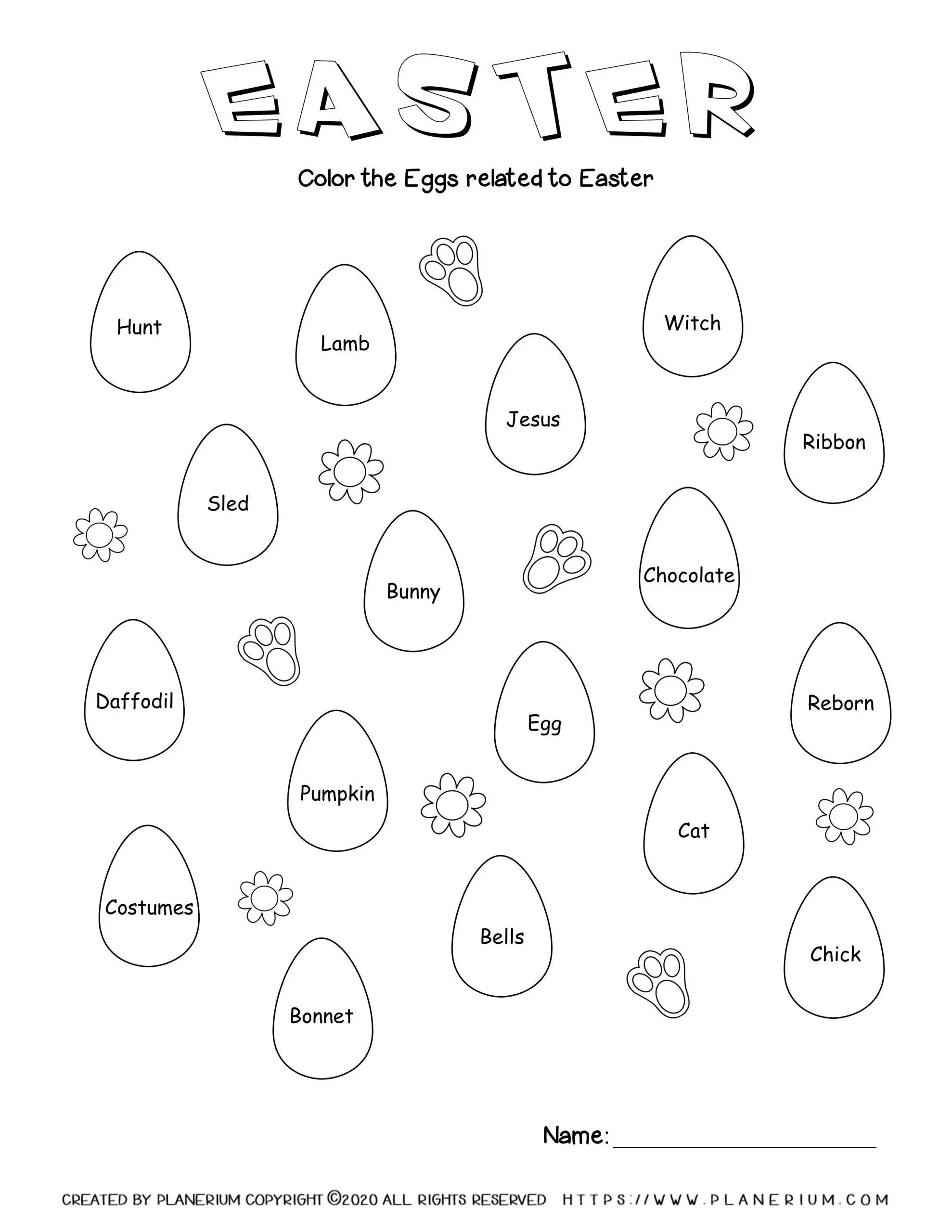 Easter Worksheet