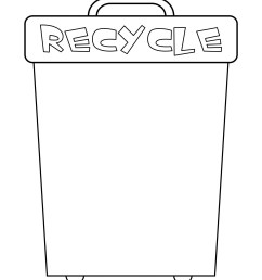 Earth Day - Worksheet - Recycle Bin   Planerium [ 2560 x 1978 Pixel ]