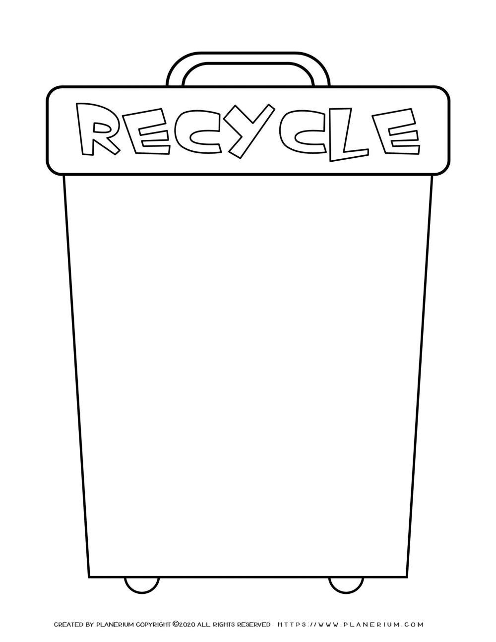 medium resolution of Earth Day - Worksheet - Recycle Bin   Planerium