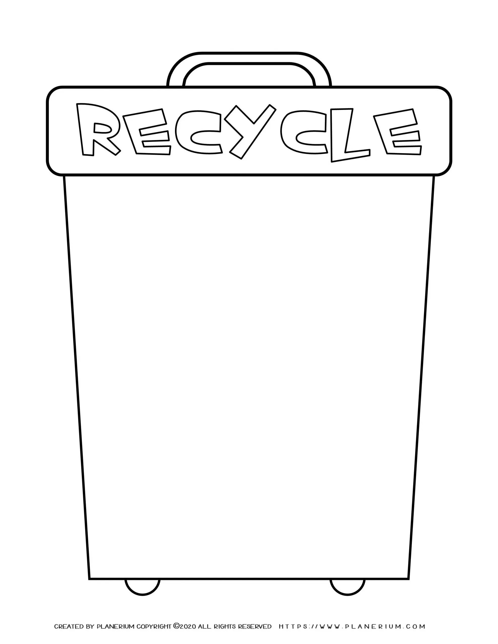 hight resolution of Earth Day - Worksheet - Recycle Bin   Planerium
