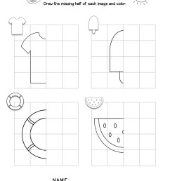 Line Of Symmetry Worksheets For First Grade   Printable Worksheets and  Activities for Teachers [ 2560 x 1978 Pixel ]