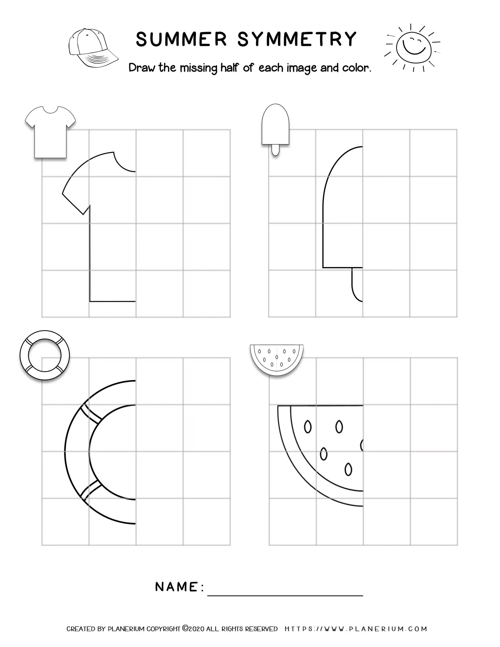 hight resolution of Line Of Symmetry Worksheets For First Grade   Printable Worksheets and  Activities for Teachers