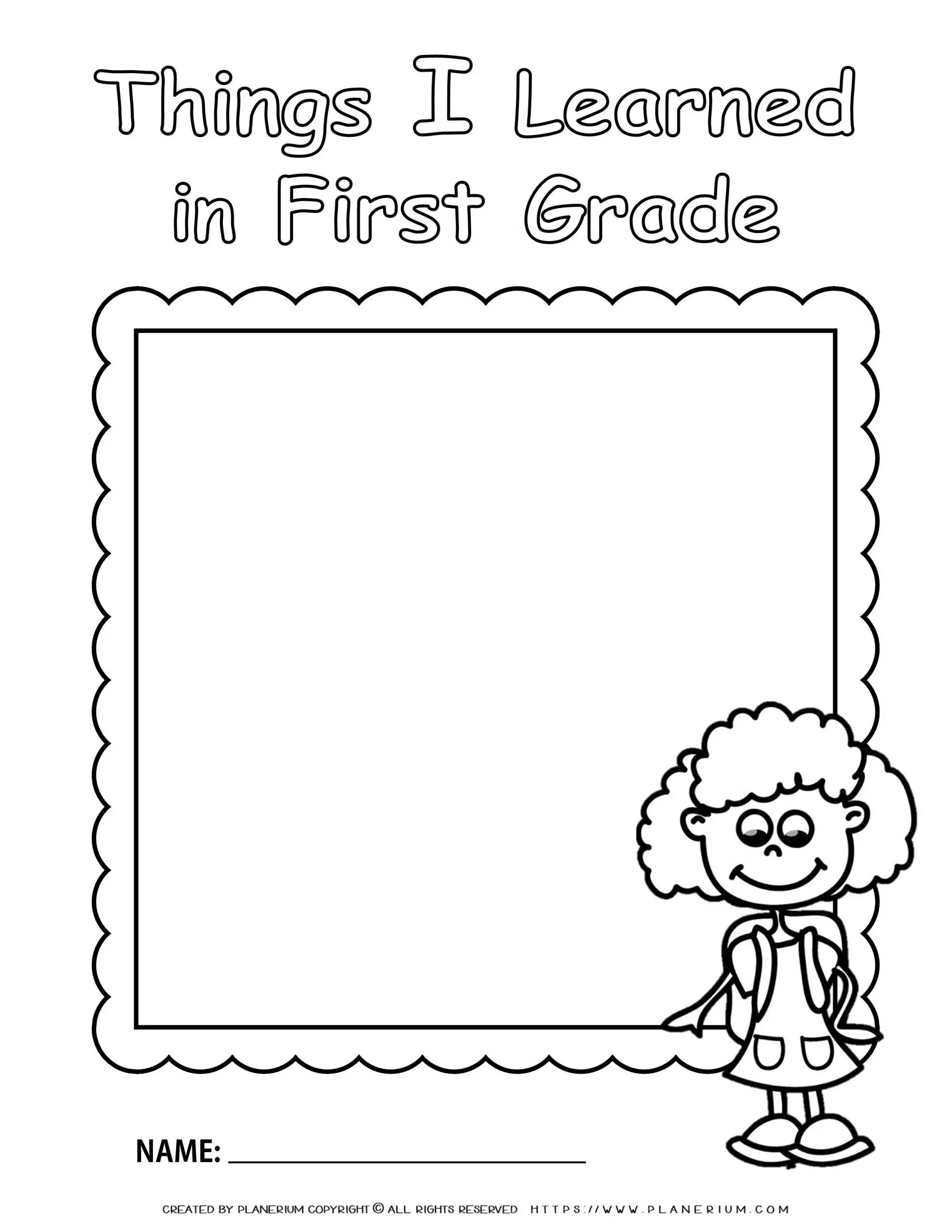 hight resolution of End of Year - Worksheet - First grade Review for Girl   Planerium