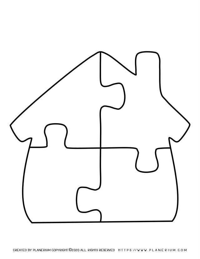 My Home - Coloring pages - My Home Puzzle  Planerium