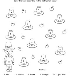 Thanksgiving Color by Number   Free printables   Planerium [ 1650 x 1275 Pixel ]
