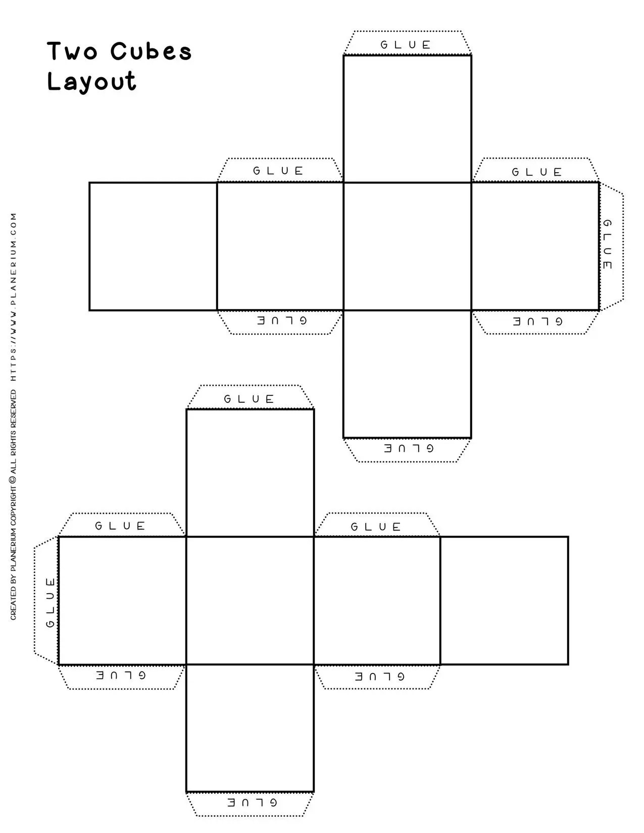 Two Hands Outline Printable Template