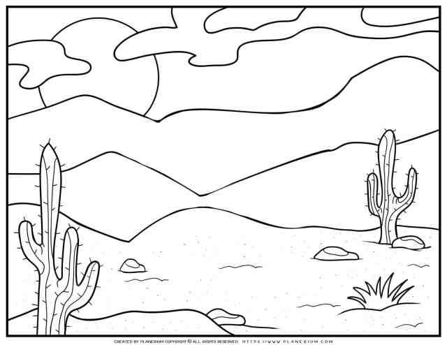 Desert Coloring Page  Planerium