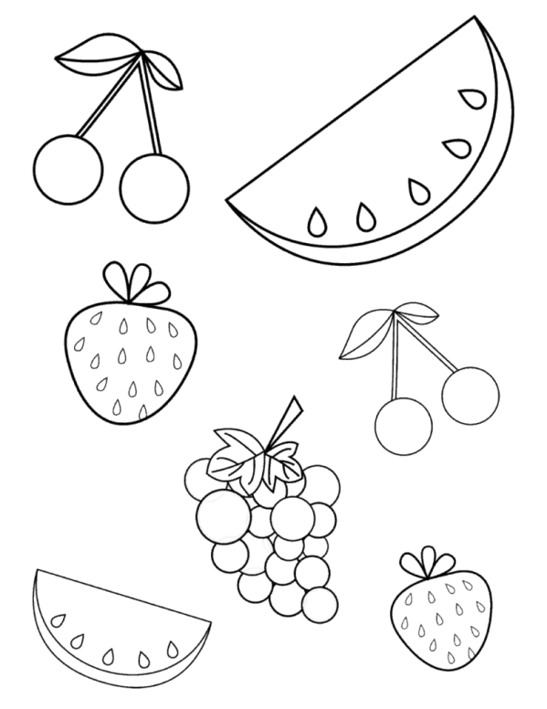 20+ Vintage Coloring Book Fruit Ideas and Designs