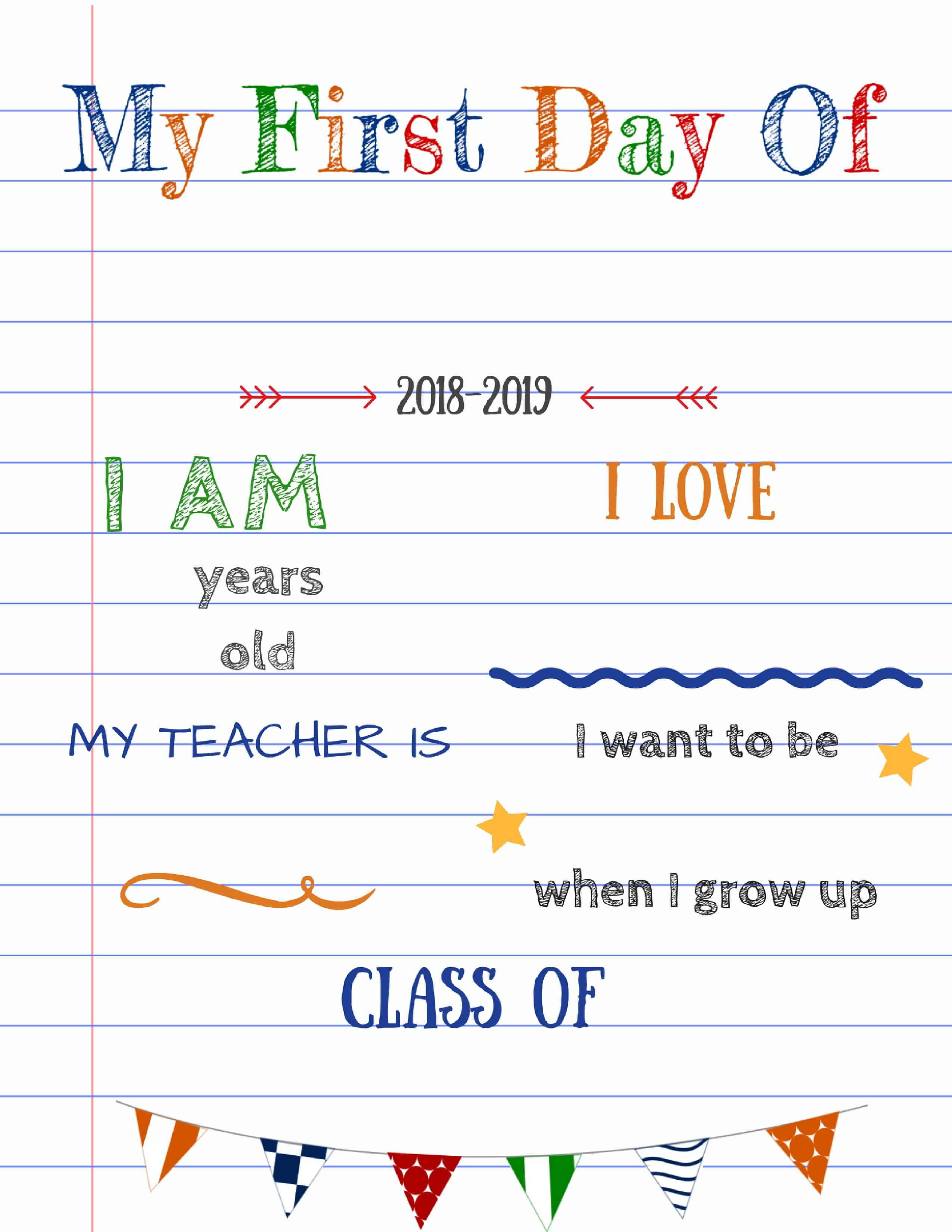 How To Create Your Own Editable First Day Of School Signs