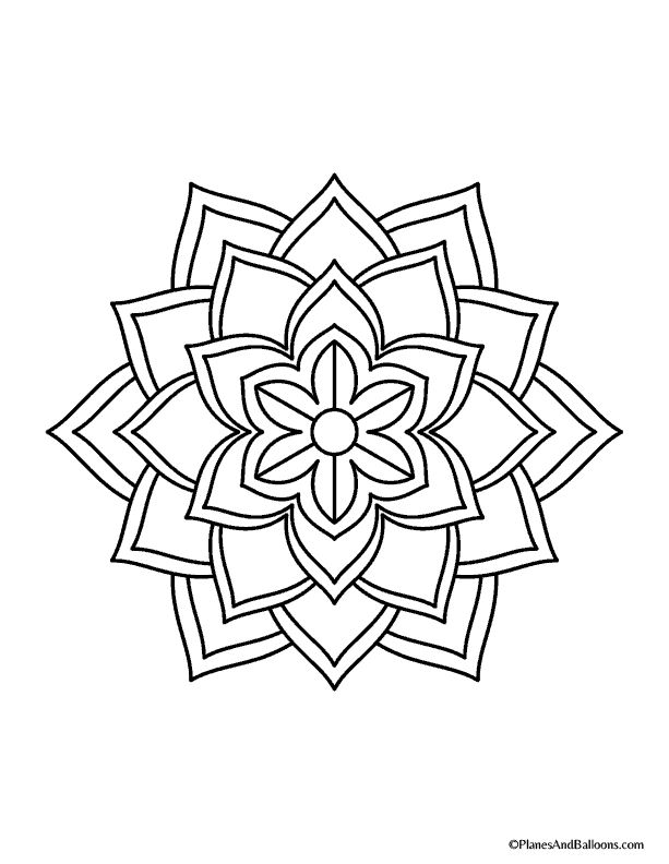 Easy mandala coloring pages that you'll actually want to color
