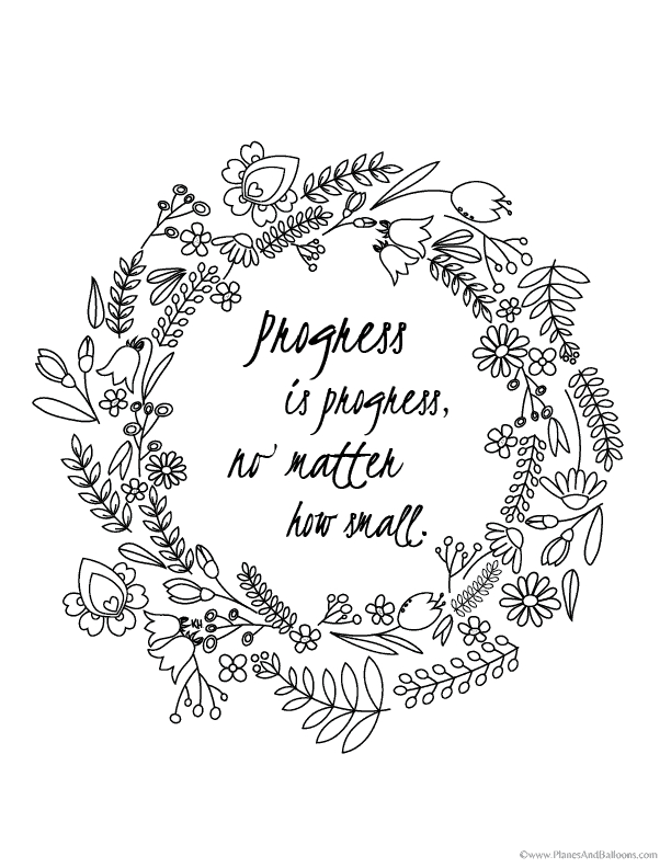 25+ Inspirational Quotes Coloring Pages For Adults - Quotes For Life