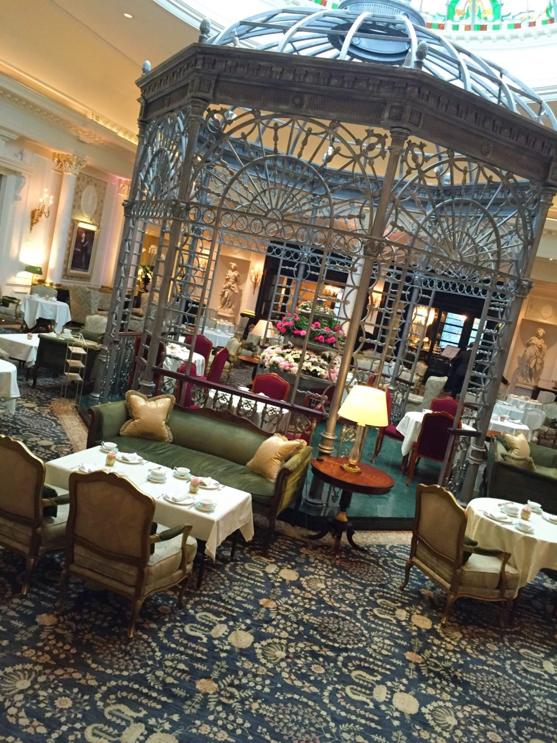 Thames Foyer Savoy Hotel : Afternoon tea at the savoy london planes trains and