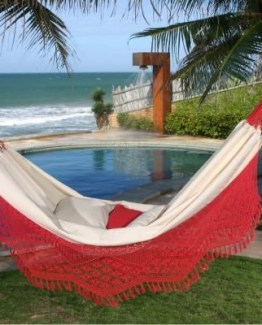 big red fringe hammock