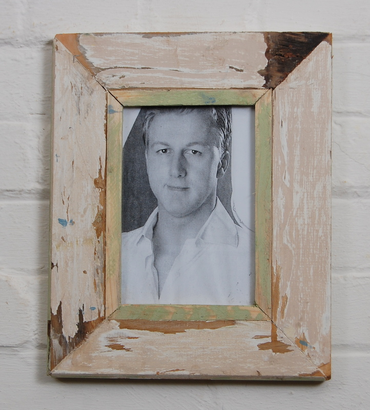A5 Distressed Recycled Wooden Picture Frame Photo Frame Off