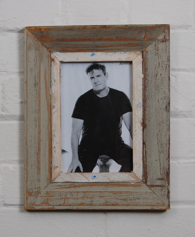 A5 Distressed Recycled Wooden Picture Frame Photo Frame Light