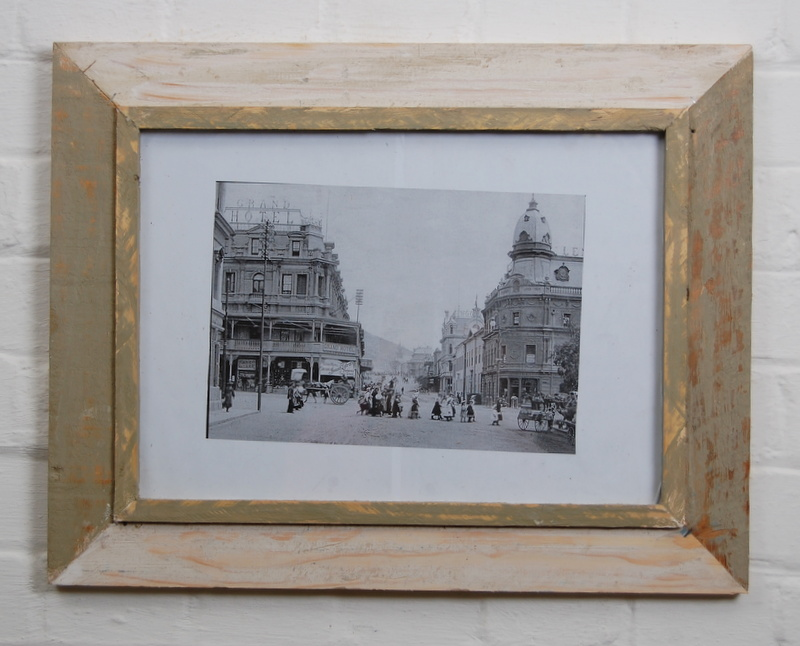 A3 Distressed Recycled Wooden Picture Photo Frame Off White And