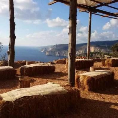 Vyhlídka v jižní části Zakynthosu na záliv Keri