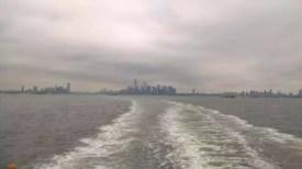 Pohled na Manhattan ze Staten Island Ferry
