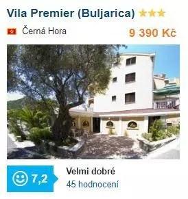 Vila Premier v Černé Hoře