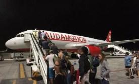 Laudamotion recenze nástup na palubu letadla