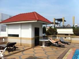 Bazén na střeše v našem hotelu Pattaya v Thajsku