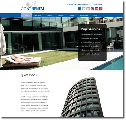 Site Institucional | Continental Esquadrias