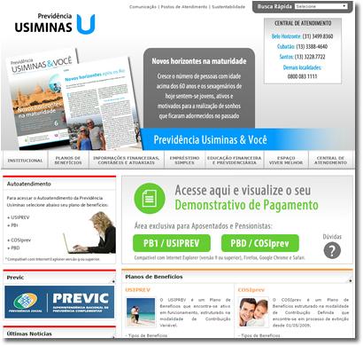 Portal Corporativo   Previdência Usiminas