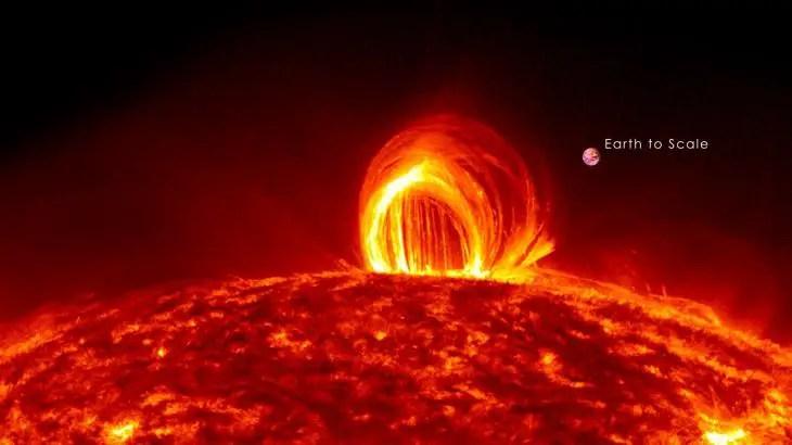 Maravillosas explosiones solares en cuatro minutos
